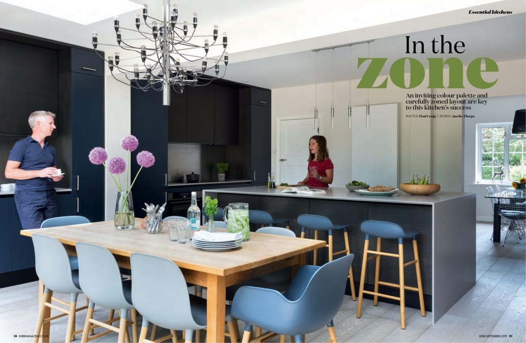 Photo of a kitchen featured in the September 2019 edition of Essential Kitchens Bedrooms Bathrooms