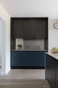 Zoning in contemporary kitchen