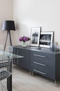 Freestanding contemporary sideboard