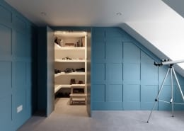 secret door secret cupboard blue panelling