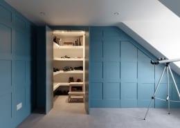 secret door secret cupboard blue panelling